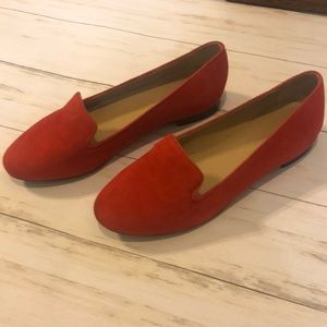 J. Crew Shoes - J. Crew red flats size 6.5